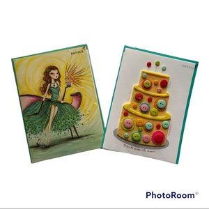 Papyrus Set of 2 Birthday Cards